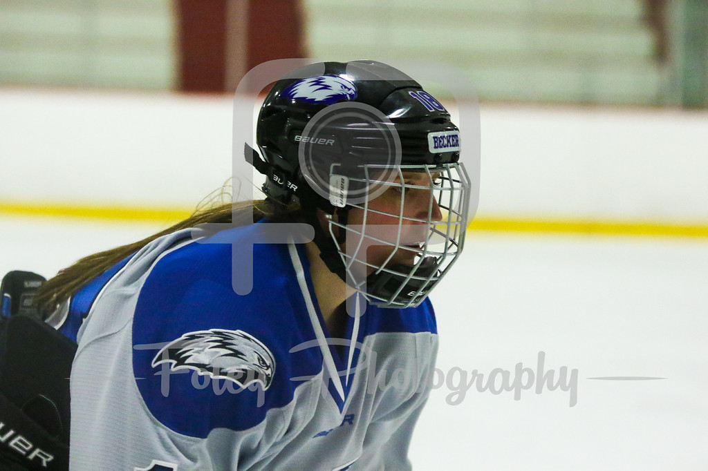 Becker College Hawks forward Kate Hamilton (18)