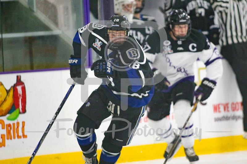 Bentley Falcons defenseman Brett Orr (18)