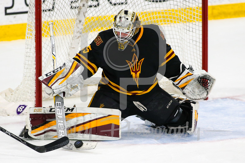 Nov. 24, 2017, Hart Center, Worcester, Massachusetts: during a matchup between the Sun Devils and the Crusaders
