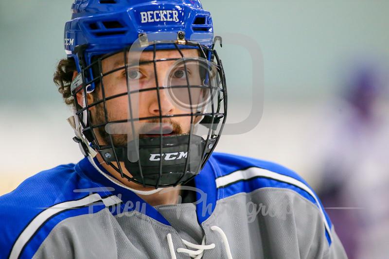 Becker College Hawks forward Aaron Deady (5)