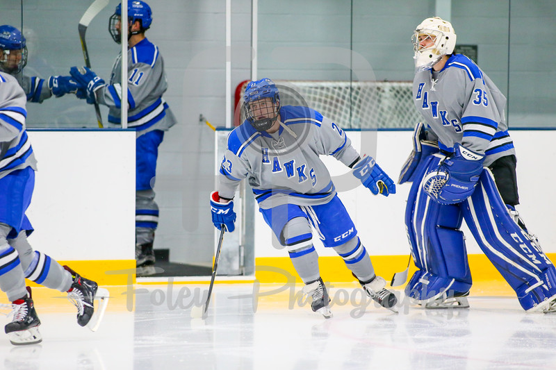 Becker College Hawks forward Corey Sherman (23)