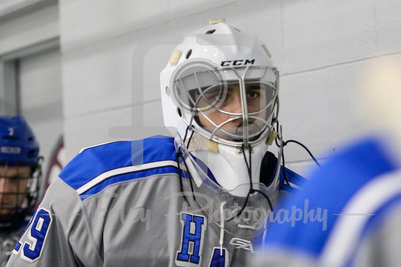 Becker College Hawks goalie Ryan Clifford (29)