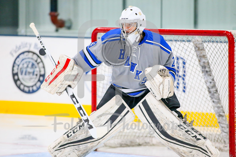 Becker College Hawks goalie Ryan Clifford (29)