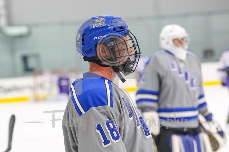 Becker College Hawks forward Jeffrey Schaeffer (18)