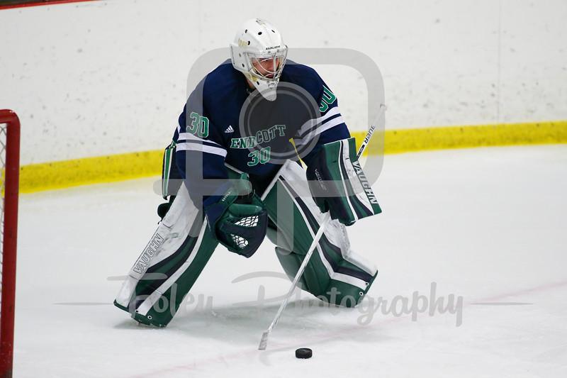 Endicott College Gulls goaltender Justin Ketola (30)
