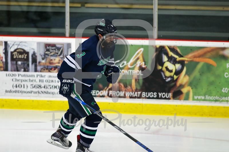 Endicott College Gulls defenseman Ryan Dougherty (3)