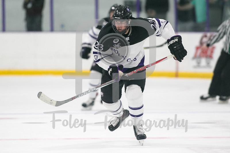 Holy Cross Crusaders forward Ryan Ferrill (23)