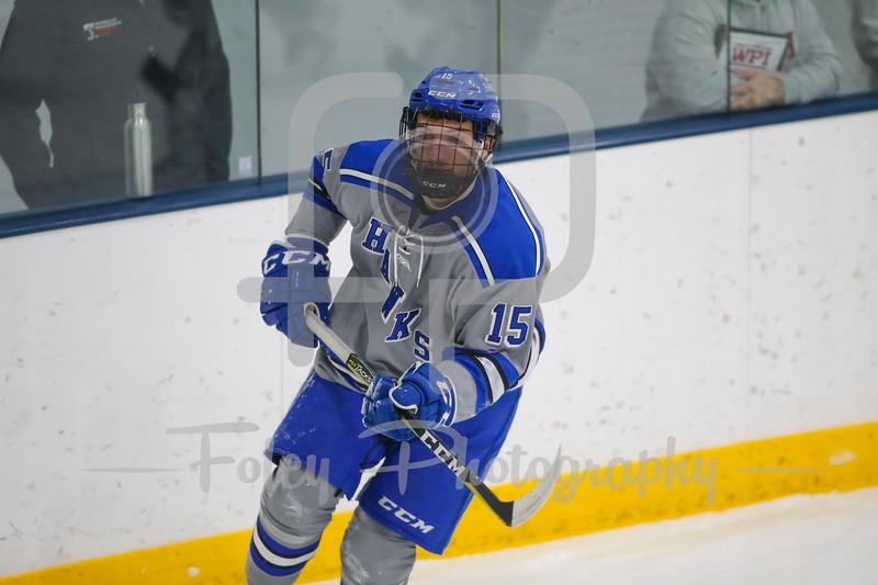 Becker College Hawks forward MacGregor Howey (15)