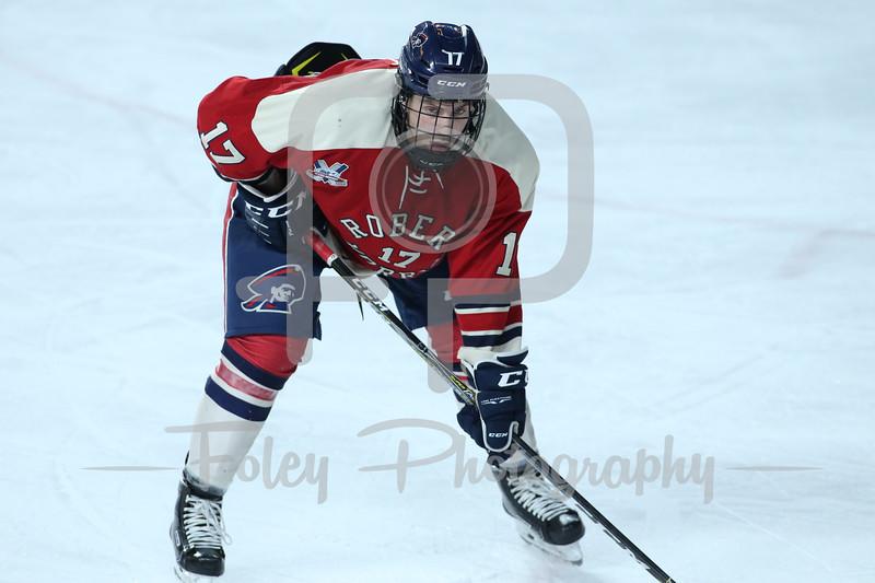 Robert Morris Colonials forward Brandon Watt (17)