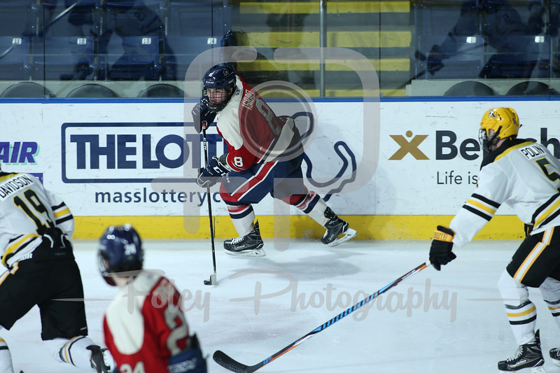 Robert Morris Colonials defenseman Eric Israel (8)