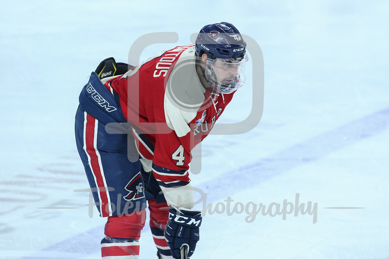 Robert Morris Colonials defenseman Elias Ghantous (4)