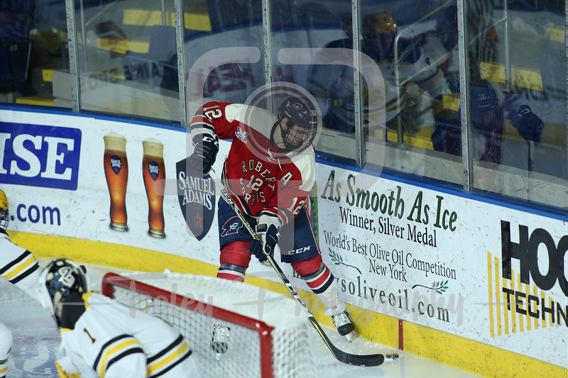 Robert Morris Colonials forward Brady Ferguson (12)