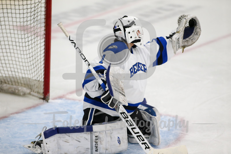 Becker College Hawks goalie Madison Rigsby (1)