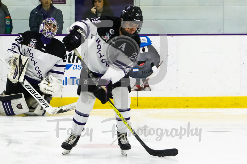 Holy Cross Crusaders defenseman Tommy Muratore (24)