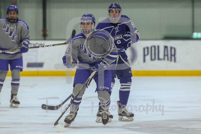 Becker College Hawks forward Charles Costello (13)