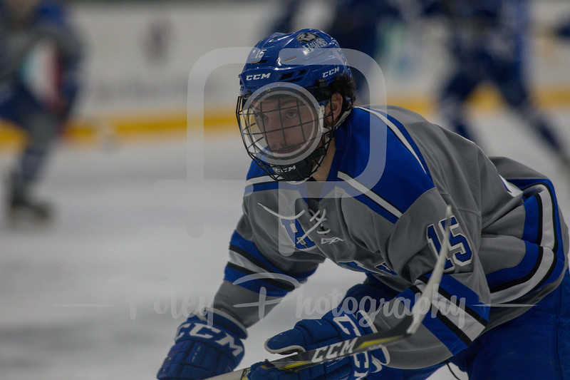Becker College Hawks forward MacGregor Howey (15)