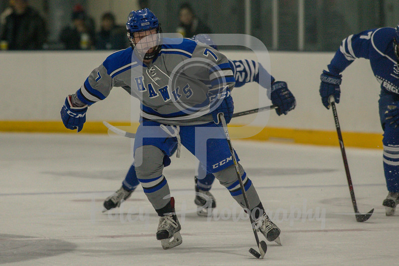 Becker College Hawks forward Trey McMillen (7)
