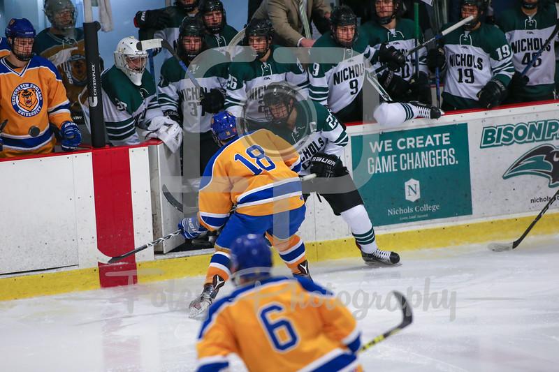 Nichols College Bison Scott Cuthrell (23) Western New England Golden Bears Chris Maione (18)