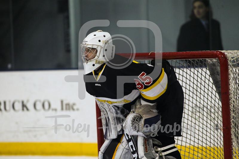 Wentworth Leopards goaltender Griffin Cady (35)