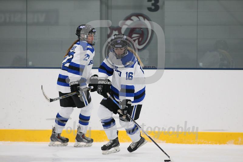 Becker College Hawks defenseman Madison Maloney (16)