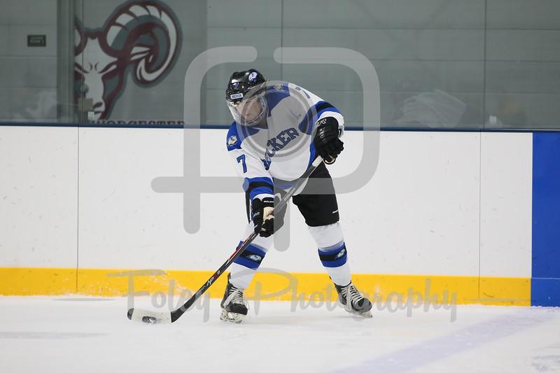 Becker College Hawks defenseman Elysabeth Jefferies (7)