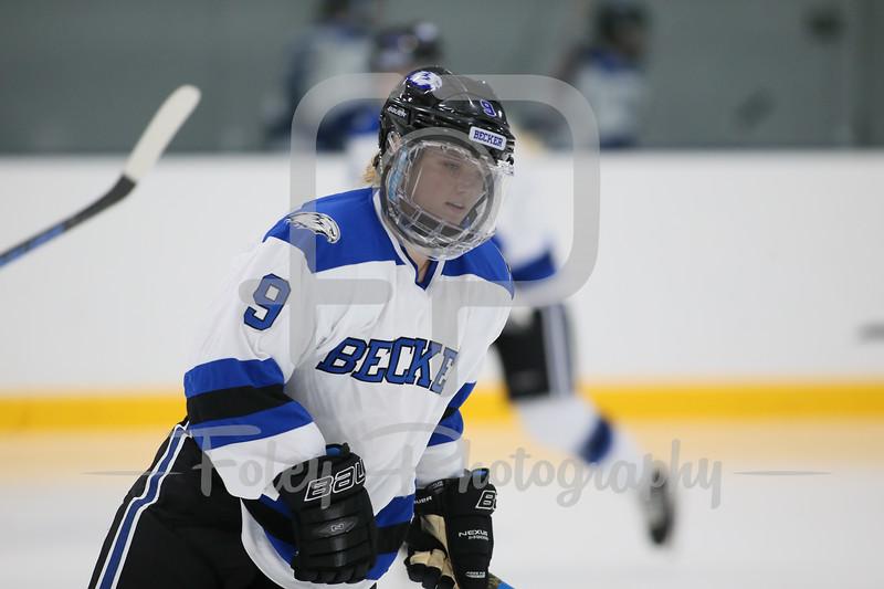 Becker College Hawks forward Rachel Pitcher (9)
