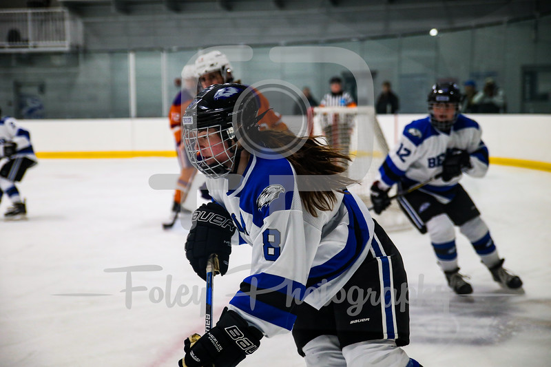 Becker College Hawks forward Brittany Aiello (8)