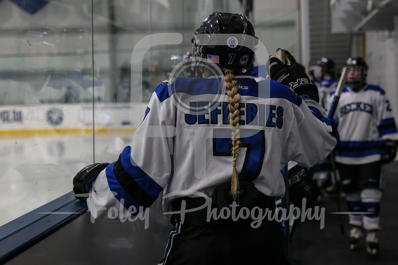 Becker College Hawks defenseman Elysabeth Jefferies (7)