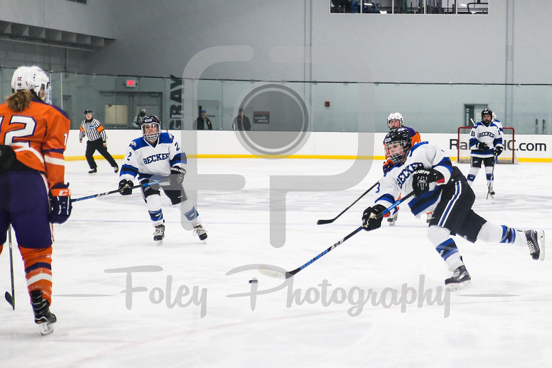 Becker College Hawks defenseman Samantha Talmadge (3)