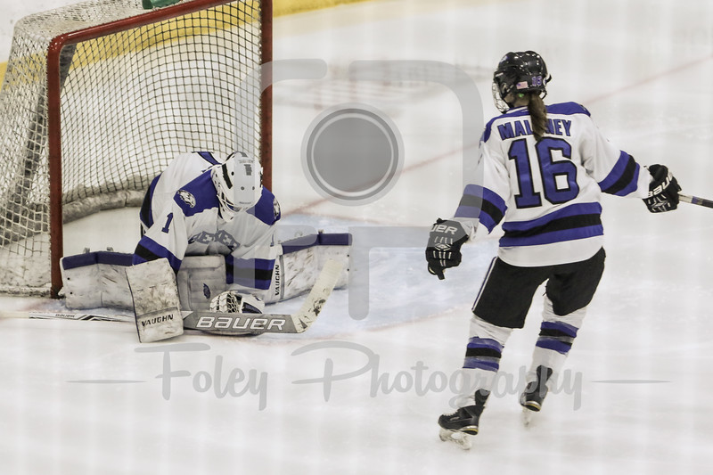Becker College Hawks goaltender Madison Rigsby (1)