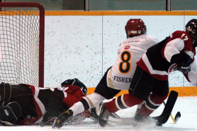 Owen is pulled down on a breakaway and  ...
