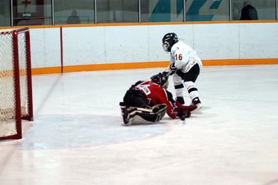 Tyler dekes the goalie ...