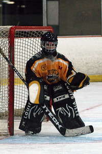 Who's this goalie.  It's Luke from our Novice Select team