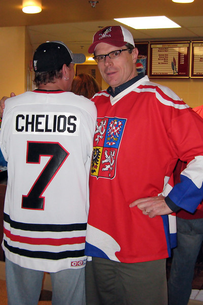 taken just seconds before I beat the crap out of Chris Chelios