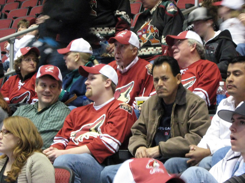 part of the Boeing crowd that night