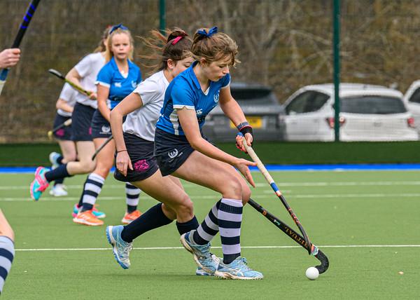6 March 2020 at the National Hockey Centre, Glasgow Green. Scottish Hockey Junior Schools' Cup Finals – <br /> Junior Girls' Bowl - Edinburgh Academy v Fettes College