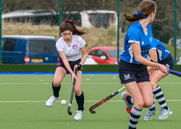 6 March 2020 at the National Hockey Centre, Glasgow Green. Scottish Hockey Junior Schools' Cup Finals – <br /> Junior Girls' Bowl - Edinburgh Academy v Fettes College