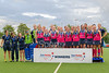 10 August 2019 at the National Hockey Centre, Glasgow Green. Women's EuroHockey Championship II. Final Ceremony -  the winners - Scotland