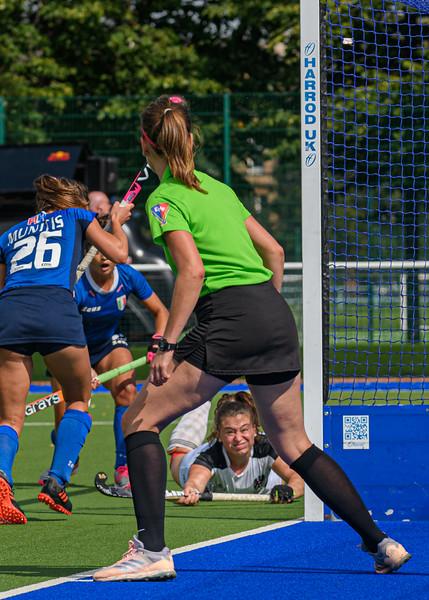 9 August 2019 at the National Hockey Centre, Glasgow Green. Women's EuroHockey Championship II  semi-final match: Italy v Austria