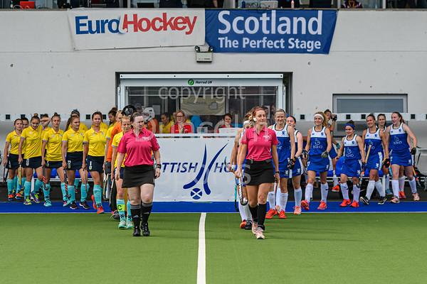 4 August 2019 at the National Hockey Centre, Glasgow Green. Women's EuroHockey Championship II  Pool B match:<br /> Scotland v Ukraine