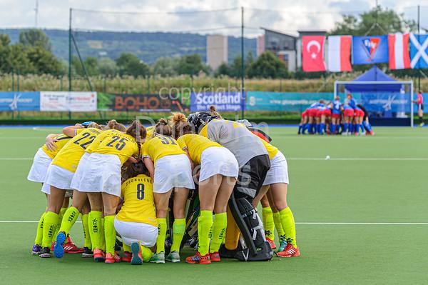 7 August 2019 at the National Hockey Centre, Glasgow Green. Women's EuroHockey Championship II  Pool B match:<br /> Ukraine v Czech Republic
