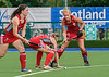 7 August 2019 at the National Hockey Centre, Glasgow Green. Women's EuroHockey Championship II  Pool A match: Wales v Poland