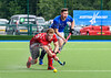 6 August 2017 at the National Hockey Centre, Glasgow Green. <br /> EuroHockey Championship II 2017 Men - Pool B match <br /> Czech Republic v Wales