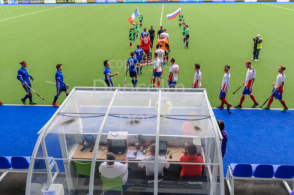 12 August 2017 at the National Hockey Centre, Glasgow Green. <br /> EuroHockey Championship II 2017 Men - 3rd/4th place match <br /> France v Russia