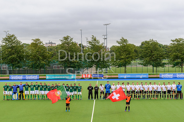 11 August 2017 at the National Hockey Centre, Glasgow Green. <br /> EuroHockey Championship II 2017 Men - Pool C match<br /> Portugal v Switzerland