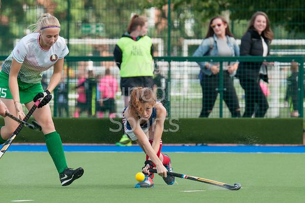 30 July 2016 at the National Hockey Centre, Glasgow Green, Scotland.<br /> EuroHockey U18 Championships II, Day 6.<br /> Final match - Belarus v France