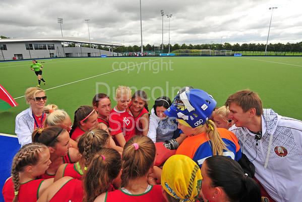 27 July 2016 at the National Hockey Centre, Glasgow Green, Scotland.<br /> EuroHockey U18 Championships II, Day 3.<br /> Pool A match - France v Belarus