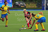 27 July 2016 at the National Hockey Centre, Glasgow Green, Scotland.<br /> EuroHockey U18 Championships II, Day 4.<br /> Pool A match - Lithuania v Ukraine