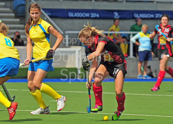 27 July 2016 at the National Hockey Centre, Glasgow Green, Scotland.<br /> EuroHockey U18 Championships II, Day 4.<br /> Pool A match - Lithuania v Ukraine