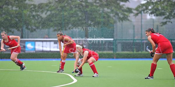 24 July 2016 at the National Hockey Centre, Glasgow Green, Scotland.<br /> EuroHockey U18 Championships II, Day 1.<br /> Pool B match - Ukraine v Belarus